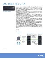 スペック シート: EMC Isilon NLシリーズ