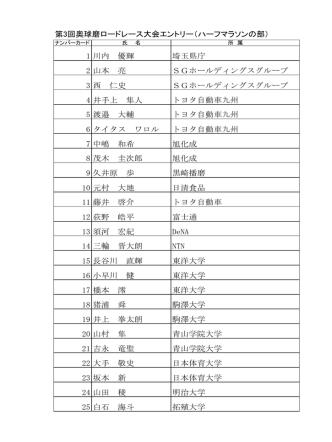 1 川内 優輝 埼玉県庁 2 山本 亮 SGホールディングスグループ 3 西 仁史