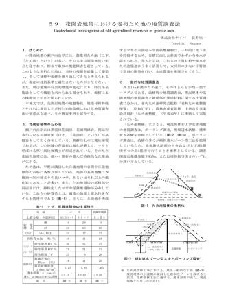 59.花崗岩地帯における老朽ため池の地質調査法