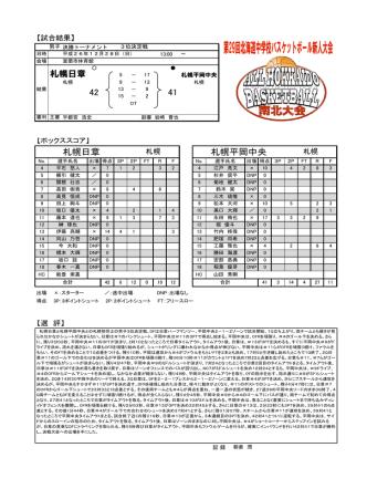 42 41 札幌日章 札幌平岡中央