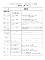 選手団コメント - 日本体育協会