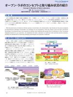 オープン・ラボのコンセプトと取り組み状況の紹介 (PDF形式、1924kバイト)