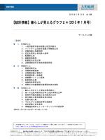 【統計情報】暮らしが見えるグラフ24(2015 年 1 月号)