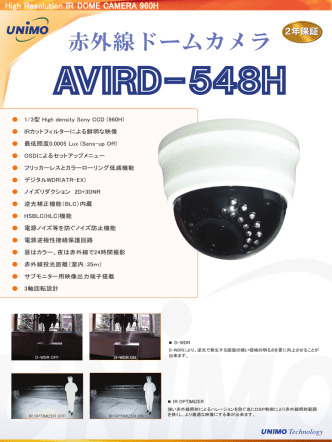 AVIRD-548H - ユニモテクノロジー
