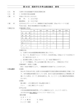 2015.3.15 第38回 関東学生冬季公認記録会