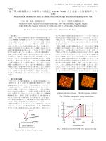 原子間力顕微鏡による凝着力の測定とvan der Waals力を考慮した数値