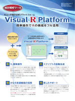Visual R Platform 製品パンフレット