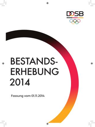 Bestandserhebung 2014 (PDF) - Der Deutsche Olympische Sportbund
