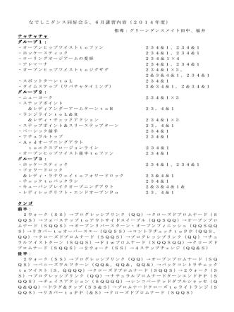 2014年5~6月講習分 チャチャチャ・タンゴ