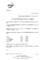 ザンビア RWI に関するお知らせ No.2014_12 – 検査料金