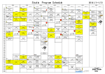Studio Program Schedule