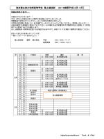 東京都立東大和南高等学校 陸上競技部 2015練習予定〔2月‐3月〕
