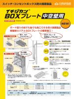 スイッチ・コンセントボックス防火措置製品「イチジカン®BOXプレート 中空