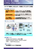 HEV/EV モータ駆動 システム・ソリューション