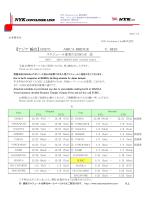 (MET) MV.ARICA BRIDGE V.043Sスケジュール変更のお知らせ ⑨