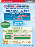 外貨送金で春の資産運用キャンペーン