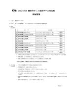 平成26年度 豊田市テニス協会チーム対抗戦 開催要項