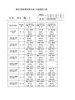 第67回区民体育大会 入賞者記入表