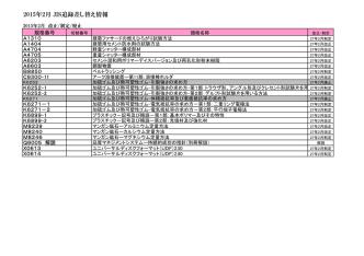 2015年2月 JIS追録差し替え情報