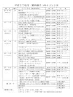 平成27年度 騎西藤まつりイベント表