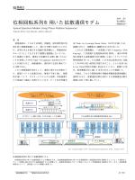 位相回転系列を用いた拡散通信モデム(PDF:24.9KB);pdf