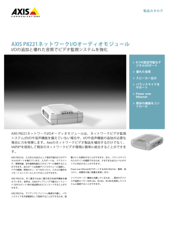 AXIS P8221ネットワークI/Oオーディオモジュール