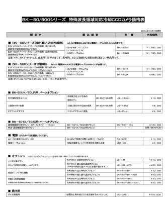 BK-50/500シリ-ズ 特殊波長領域対応冷却CCDカメラ