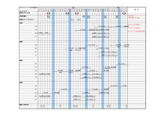 2014年9月工程表