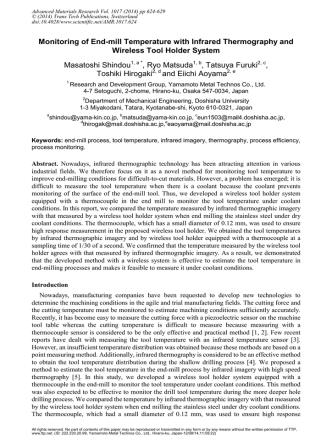 Advanced Materials Research Vol. 1017 (2014) pp 624