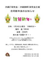 案内(PDF - 沖縄CT研究会