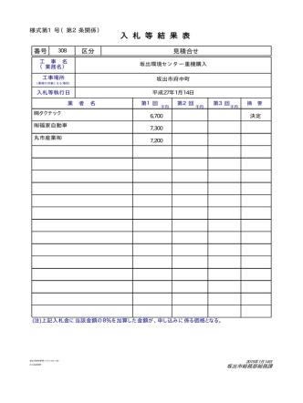 1月14日見積合せ結果 [PDFファイル/31KB]