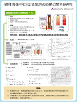 磁性流体を用いた混相流のパラメータ計測と挙動シミュレーション