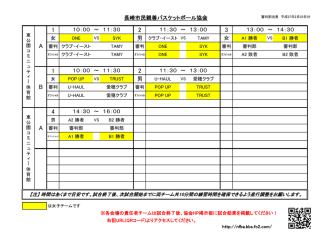 1 2 3 1 2 4 AAB - 長崎市民親善バスケットボール協会