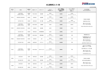 ACL通知先コード一覧 - Pan Oceanコンテナ日本株式会社