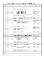 平成27年度 バレーボール専門部 事業計画(案);pdf