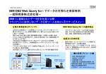 IBM DB2 Web Query for i でデータの可視化を実現事例 IBM DB2 Web