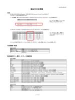 製品OS対応情報
