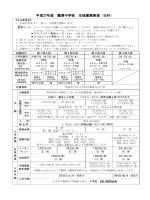 平成27年度 麗澤中学校 生徒募集要項(抜粋)