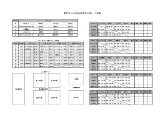 2015 フェスティバル対戦表