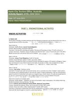Australia Activity Report