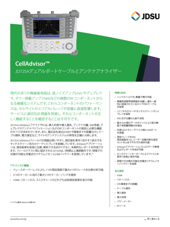 CellAdvisor™ JD725Aデュアルポートケーブルとアンテナ