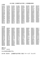 A日程 B日程 以上250名を合格とする。 2015年 1月20日 立命館宇治