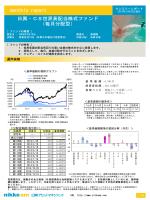 monthly report 日興・CS世界高配当株式ファンド (毎月分配型)