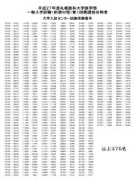 (前期日程)第1段階選抜結果(PDF形式:40.4KB)