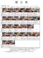 献 立 表 - UKC (株) 宇都宮給食センター ホームページ