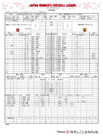 2 - 3 - なでしこリーグ;pdf